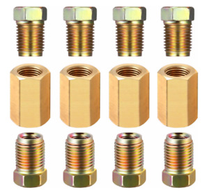 12 Piece 3 16 3 8 24 Inverted Brake Line Fittings Brass Unions