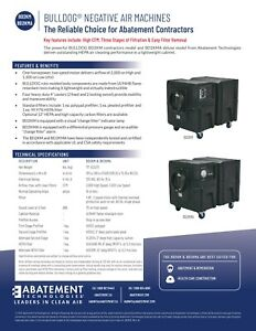 2 Used Negative Air Machines For 800 ea