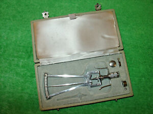 Vintage Schiotz Tonometer With Info Card In Original Case Made In Germany
