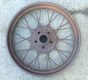 1926 1927 Model T Ford 21 Inch Wire Spoke Wheel Original 5 Lug 4
