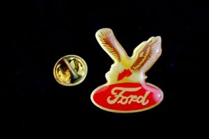 Red Ford Oval Eagle Hat Lapel Pin Accessory F100 F150 Ranger F250 Flathead