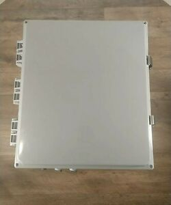 Nema 4x Box 14x12x6 Weatherproof Enclosure With Aluminum Plate Cable Glands