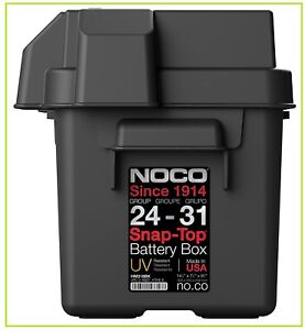 Snap Top Heavy Duty 24 31 Battery Box For Marine Rv Camper Trailer Batteries