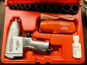 Snap On Tools Model Im31 3 8 Drive Air Impact Wrench Gun With Sockets Case