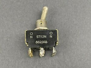Vintage Dpdt 2 position Toggle Switch On on 6 pin St52n 8825k6 Usa Used