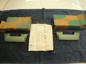 Nos 1959 1960 Bel Air Biscayne Corvair Pair Green Armrests New In Box
