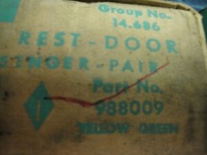 Nos 1959 1960 Bel Air Biscayne Corvair Pair Rear Green Armrests New In Box