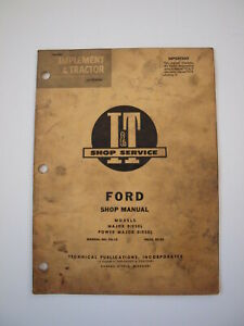 Ford Fordson Major power Major Diesel Tractor Shop Service Repair Manual It Fo12