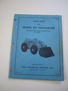 Ih Hough Hy Front end Wheel Pay Loader Tractor Parts Catalog Manual List