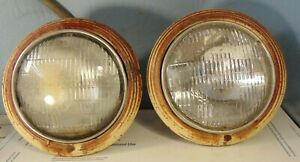 1942 1946 1947 Ford Pickup Panel Truck Headlight Bucket Bezel Assembly Pair F1