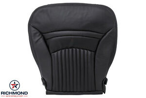 1997 2004 Chevy Corvette Driver Side Bottom Replacement Leather Seat Cover Black