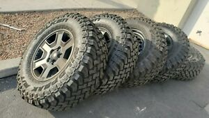 5 17 Jeep Gladiator Mojave 2020 Oem Black Wheels Rims Wrangler Falken Mt Tires