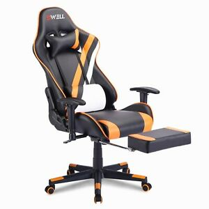 Gaming Chair Racing Computer Leather High Back Recliner Office Desk Swivel Seat