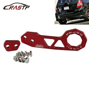 Universal Red Jdm Style Aluminum Alloy Racing Car Rear Tow Hook For Honda Civic