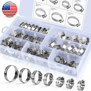 Hose Clamp Assortment Set Fuel Line Clamp Spring Clip Water Plumbing Tube Pipe