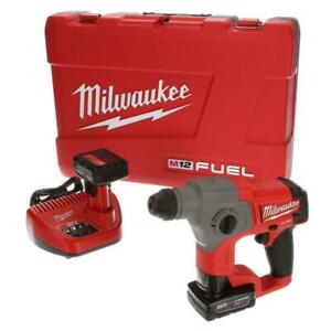 M12 Fuel 12 volt Lithium ion 5 8 In Brushless Cordless Sds plus Rotary Hammer