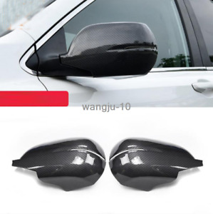 For 2012 2016 Honda Cr v Crv Carbon Fiber Rear View Side Mirror Cover Trim 2pcs