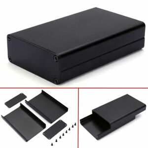 Black Aluminum Pcb Instrument Box Extruded Enclosure Diy Electronic Project Case