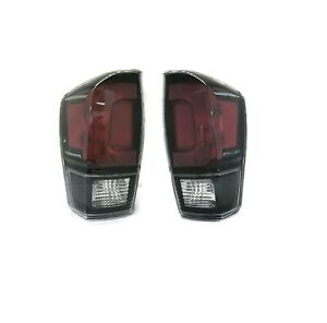 New Replacement Pair Tail Light Lamps Rh Lh For 2017 2019 Toyota Tacoma Trd Pro