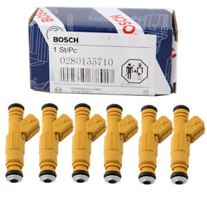 6pcs Fuel Injectors 4 Hole 0280155710 For 87 98 Jeep 4 0l High Performance Us