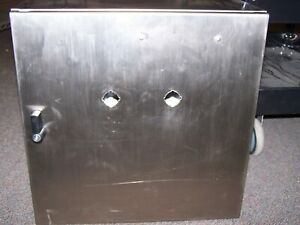 new Hoffman Stainless Steel Enclosure 20 X 20 X 10 W Backplate Csd202010ss