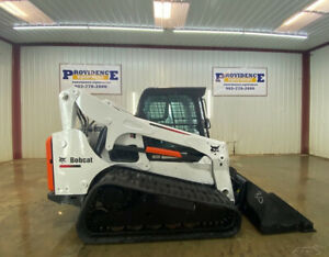 2012 Bobcat T750 Cab Skid Steer Track Loader With A c And Heat