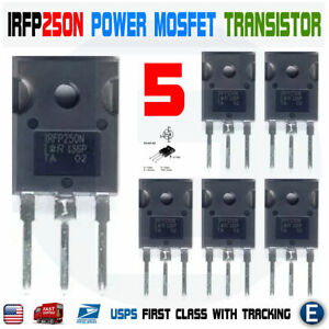 5pcs Irfp250n Irfp250 Power Mosfet N channel Transistor 30a 200v To 247 Usa