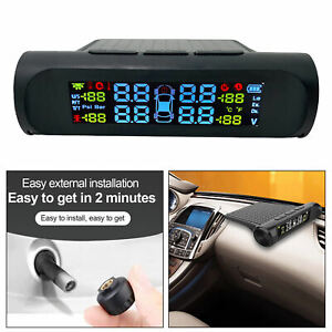 Car Tire Pressure Monitoring System With 4 External Sensors Tpms Universal