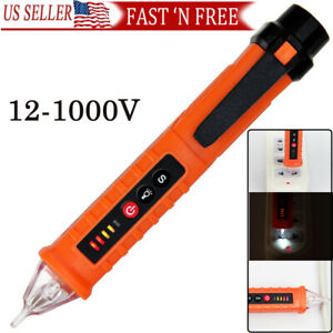 Ac Non contact Lcd Electric Test Pen Voltage Digital Detector Tester 12 1000v