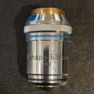 Zeiss Microscope Planapo 63x 1 4 Oil Rms Objective Cn 5226564 Delaminated