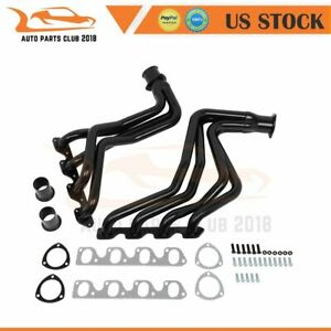 Black For 77 79 Ford F150 250 350 Bronco 4wd 351 400 Ci V8 Short Exhaust Header