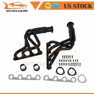 Black Coated Exhaust Headers Kit For Ford F 100 F100 5 0l Pickup Truck 2w 69 79