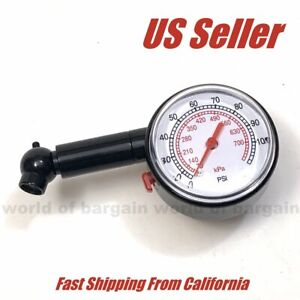Car Auto Bike Tire Pressure Gauge Psi Dial Easy Read Air Chamber Readout Tester