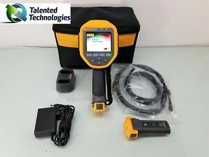 Fluke Ti300 Thermal Imager Camera 2x Battery Dock Power Adapter Hdmi Case