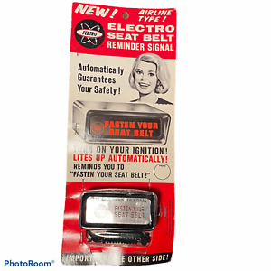 Vintage Auto Fasten Your Seat Belt By Fedtro Packaging Nos New In Box
