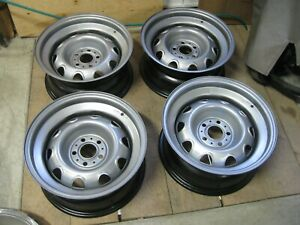 4 Nices 15x7 Rally Wheel Dodge Plymouth Chrysler 5x4 S B P Redone Read For Cost
