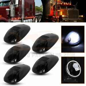 5x Smoke White Cab Marker Light Assembly For 2003 2017 Dodge Ram 2500 3500 4500