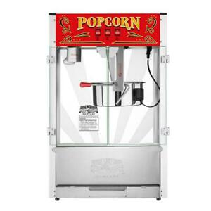 Commercial Midway Marvel 16 Oz Silver Popcorn Machine