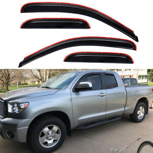 In Channel Window Visors Sun Rain Guards For 2007 2020 Toyota Tundra Double Cab