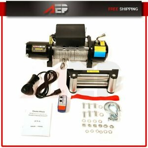 8000lbs 3629kg 12v Electric Recovery Winch Truck Suv Durable Remote Control