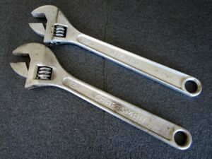 Vintage Craftsman Wizard 12 Adjustable Wrench 44605 H2404 Made In Usa