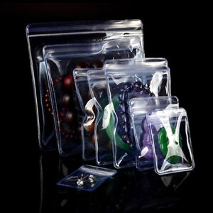 Pvc Jewelry Packaging Storage Bag For Zip Clear Plastic Lock Resealable Package