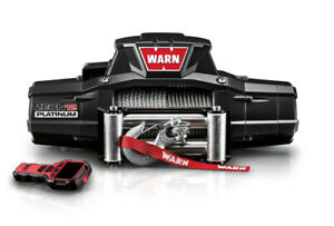 Warn Industries Zeon 12 Platinum 12000lb Winch W Wire Rope Roller