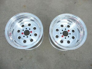 Nos Pair Of Rear 15 X 10 Weld Racing Sport Forged Draglite Wheels Mustang 4 Lug