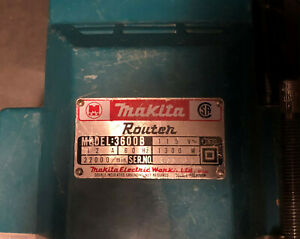 Makita Router Model 3600b