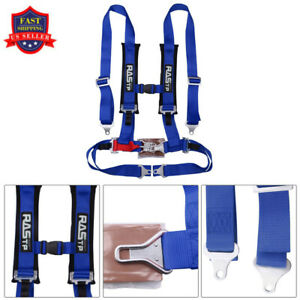 Rastp Universal 4 Point Car Auto Racing Sport Seat Belt Safety Harness Strap Red
