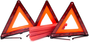 3 packs Early Warning Road Safety Triangle Kit Reflective Sign Emergency Signals