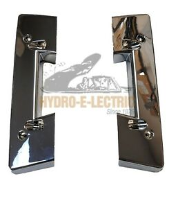 New 1962 1964 Chevrolet Corvette Front Arm Rest Bases Chrome Pair