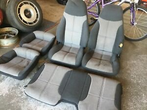 85 89 Iroc Z28 Cloth Camaro Bucket Front Rear Seats Coupe Grey Used