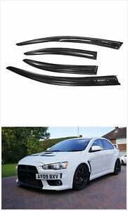 Window Visor Rain Wind Deflector Guard Vent Tinted For 2008 17 Mitsubishi Lancer $24.99